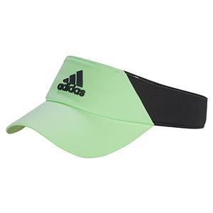 Unisex Climalite Tennis Visor Glow Green and Carbon