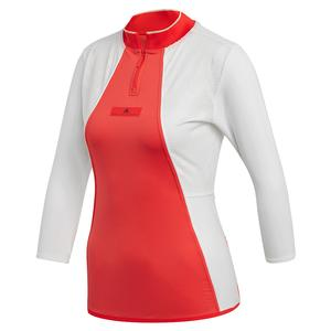 Women`s Stella McCartney Long Sleeve Tennis Top Active Red