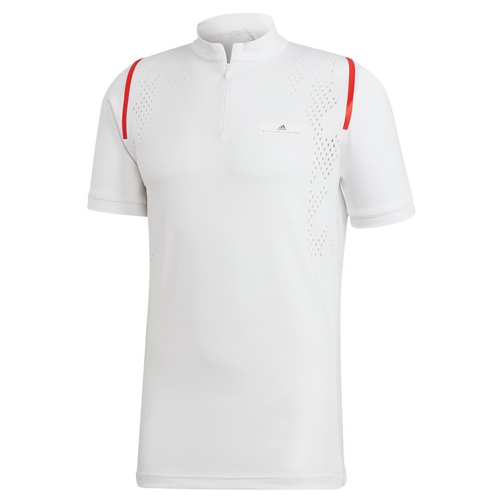 Men's Stella Mccartney Zipper Tennis Crew White