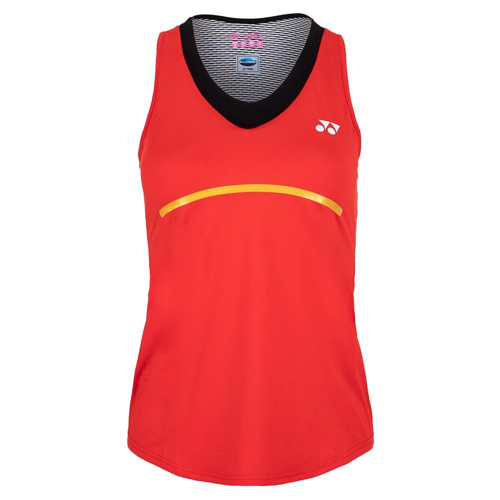 Women's Paris Tank Tennis Top Fire Red