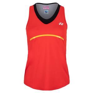 Women`s Paris Tank Tennis Top Fire Red