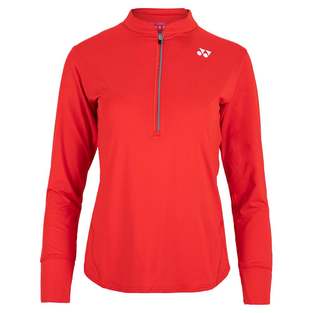Women's Paris Long Sleeve Tennis Top Fire Red