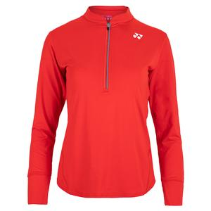 Women`s Paris Long Sleeve Tennis Top Fire Red