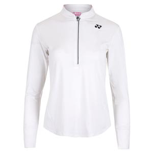 Women`s London Long Sleeve Tennis Top White