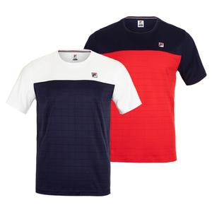 Men`s Heritage Grid Tennis Crew