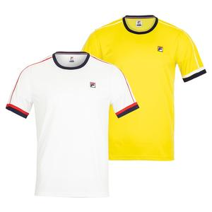 155ef59dcbc0 Men's Fila Heritage Tennis Apparel Collection NEW Men`s Heritage Piped  Tennis Crew