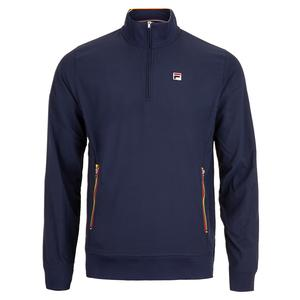Men`s Heritage Tennis Jacket Navy and Chinese Red