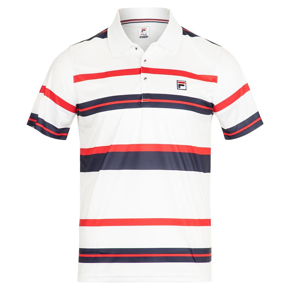 9cdbaa2e Fila Men`s Heritage Striped Tennis Polo   Tennis Express
