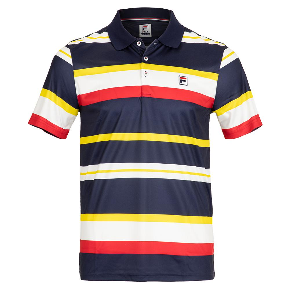 9cdbaa2e Fila Men`s Heritage Striped Tennis Polo | Tennis Express