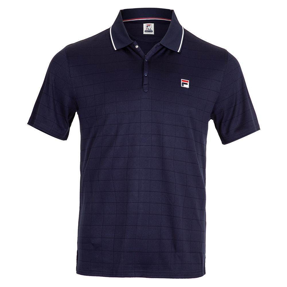 a70d052553d Fila Men`s Heritage Drop Needle Tennis Polo | Tennis Express