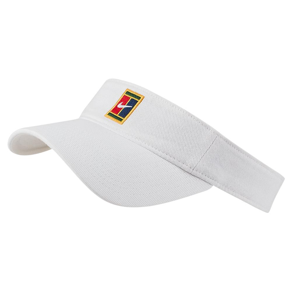 1b7878ada6a77 Women`s Court Heritage Washed Denim Tennis Visor 100_WHITE