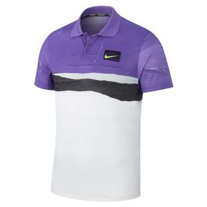 Men`s New York Court Advantage Tennis Polo Psychic Purple