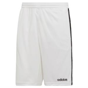 Men`s Designed2Move 3-Stripes Cool Short White and Black
