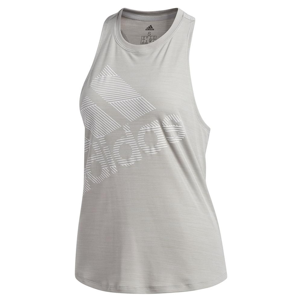Women's Badge Of Sport Logo Tank Medium Grey Heather