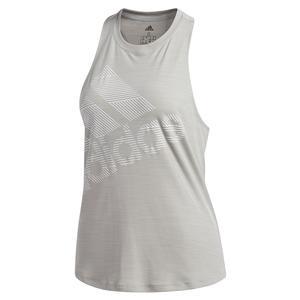 Women`s Badge of Sport Logo Tank Medium Grey Heather