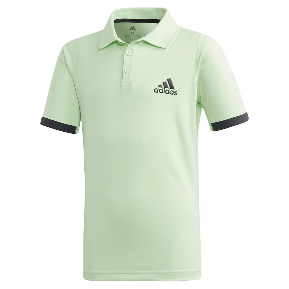 Boys ` Ny Tennis Polo Glow Green And Carbon