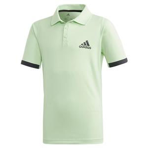 Boys` NY Tennis Polo Glow Green and Carbon