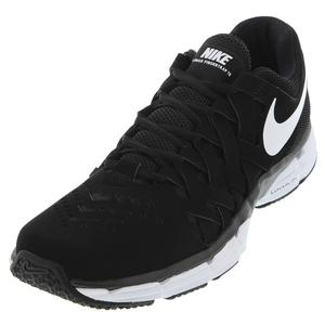 Men`s Lunar Fingertrap Training Shoes Black and White
