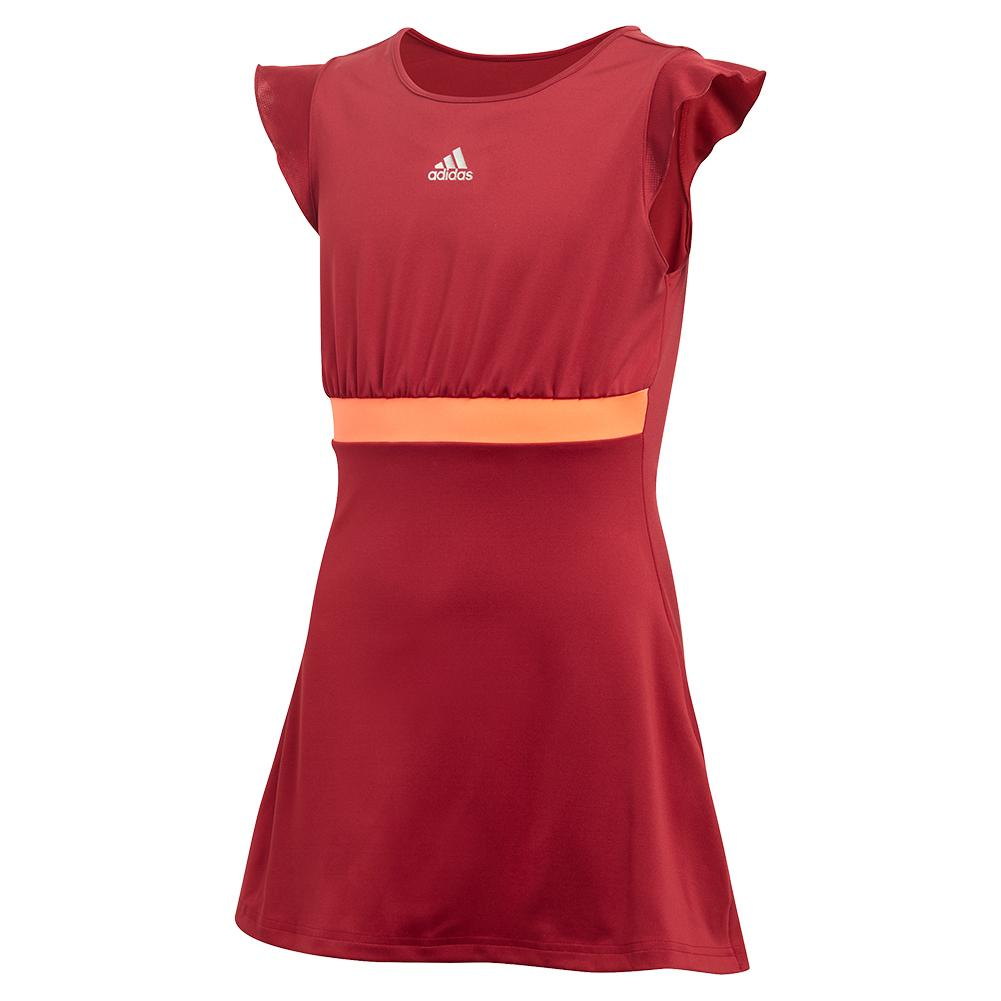Girls ` Ribbon Tennis Dress Collegiate Burgundy