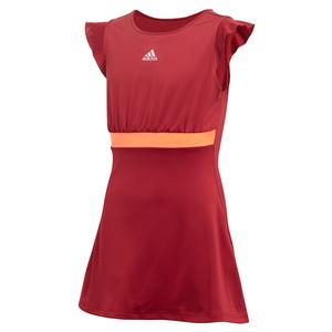 Girls` Ribbon Tennis Dress Collegiate Burgundy