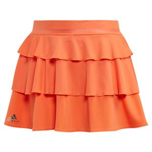 Girls` Frill Tennis Skort Hi-Res Coral