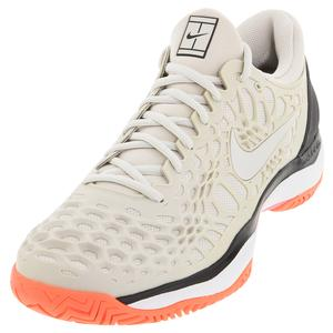 Men`s Zoom Cage 3 Tennis Shoes Light Bone and Black