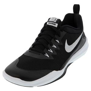 Men`s Legend Trainer Shoes Black and Metallic Silver