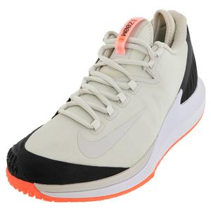Men`s Court Air Zoom Zero Tennis Shoes Light Bone and Black