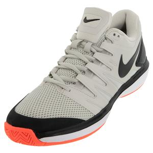 Men`s Air Zoom Prestige Tennis Shoes Light Bone and Black