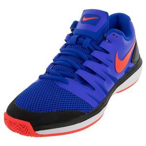 Men`s Air Zoom Prestige Tennis Shoes Racer Blue and Bright Crimson