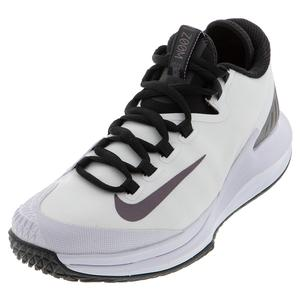 Women`s Court Air Zoom Zero Tennis Shoes White and Multi Color