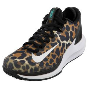Women`s Court Air Zoom Zero Tennis Shoes Wheat and Black