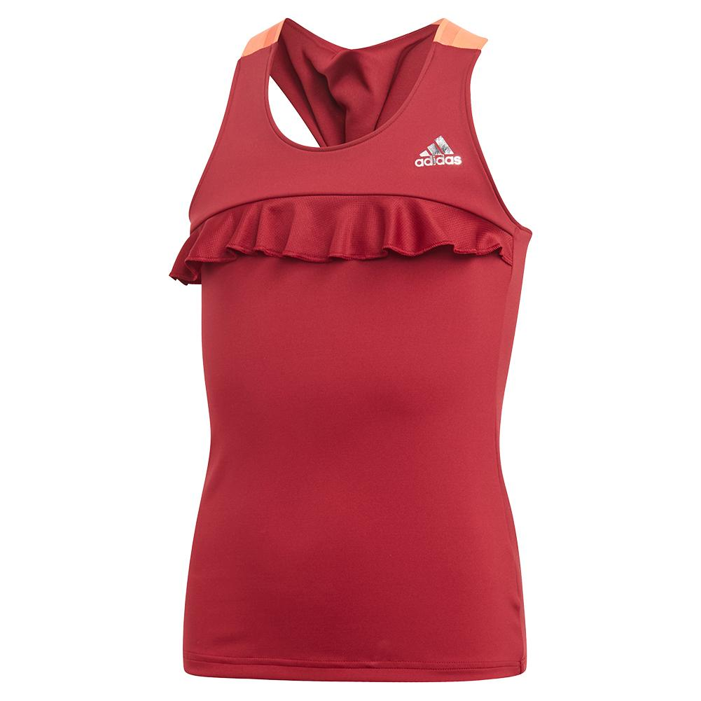 Girls ` Ribbon Tennis Tank Collegiate Burgundy