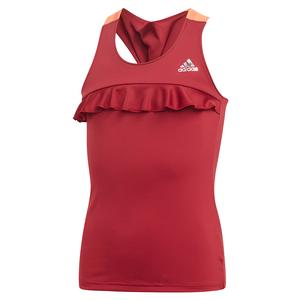 Girls` Ribbon Tennis Tank Collegiate Burgundy