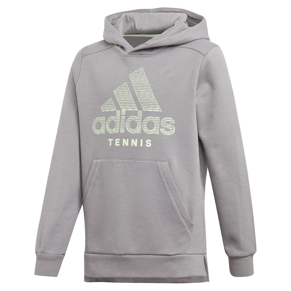 Juniors ` Club Tennis Hoodie Grey Three