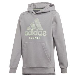 Juniors` Club Tennis Hoodie Grey Three