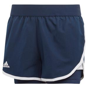 Girls` Club Tennis Short Collegiate Navy