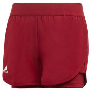 Girls` Club Tennis Short Collegiate Burgundy