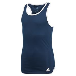 Girls` Club Tennis Tank Collegiate Navy