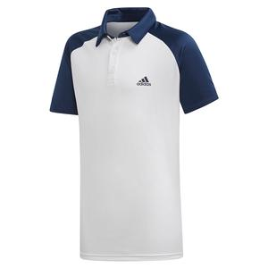 Boys` Club Tennis Polo Collegiate Navy and White