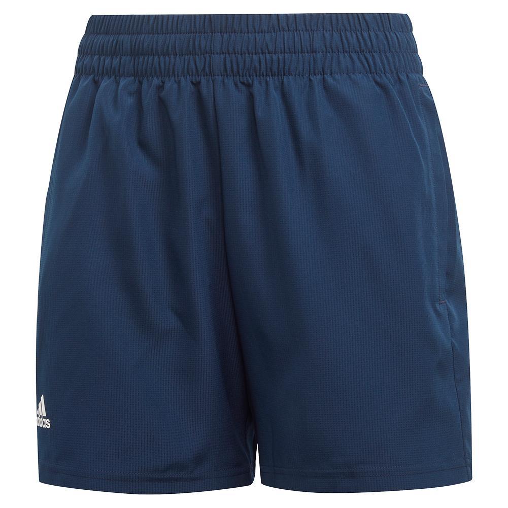 Boys ` Club 5 Inch Tennis Short Collegiate Navy And White