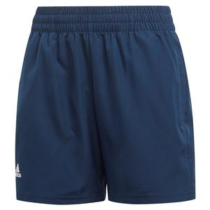 Boys` Club 5 Inch Tennis Short Collegiate Navy and White