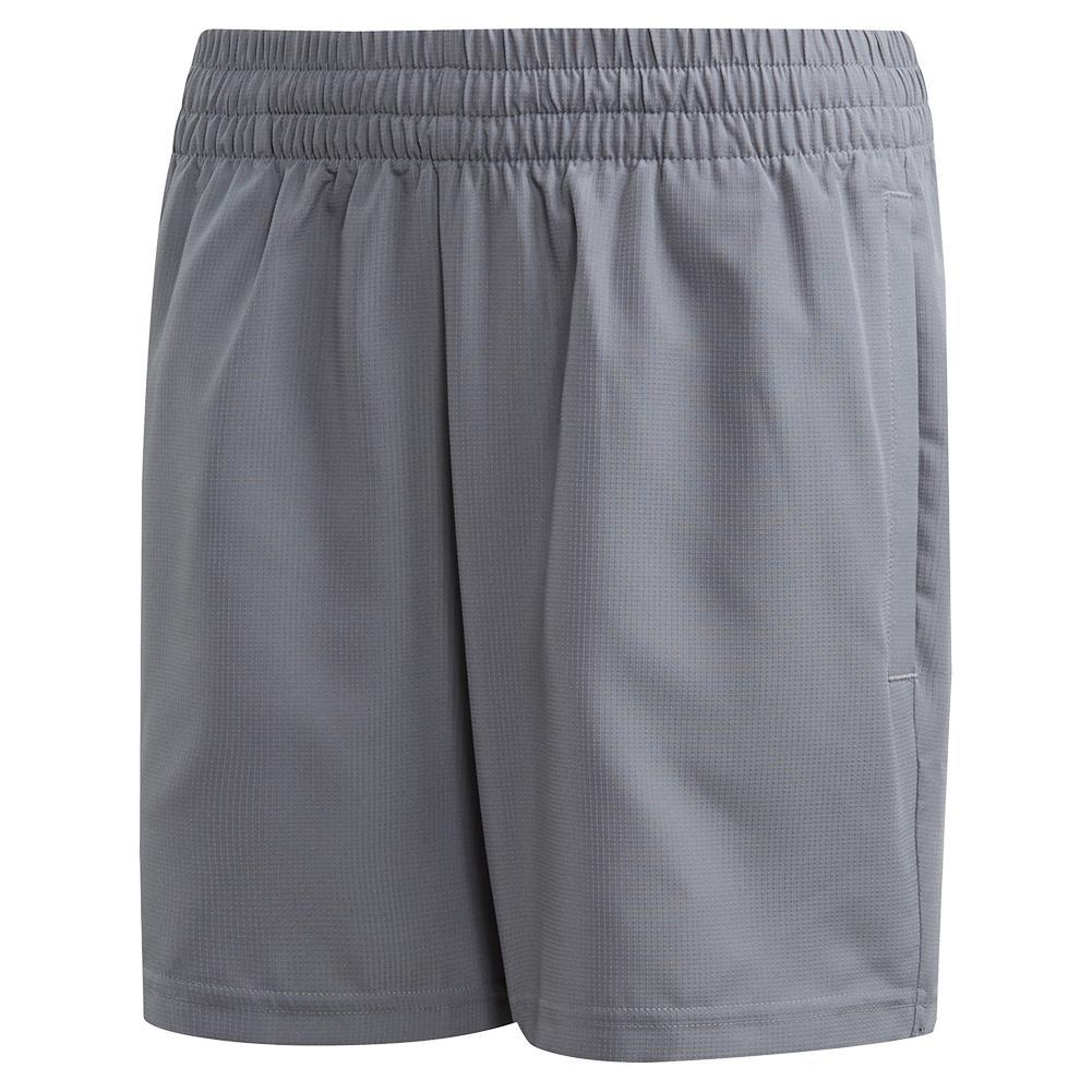 Boys ` Club 5 Inch Tennis Short Grey Three And Glow Green