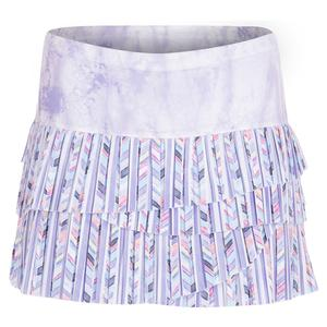 Women`s Pleated Scallop Tennis Skirt Purity Print