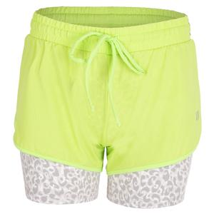 Women`s Tremor 7 Inch Tennis Short Sharp Green