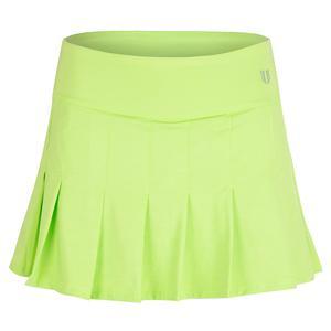 Women`s Flutter 13 Inch Tennis Skort Sharp Green