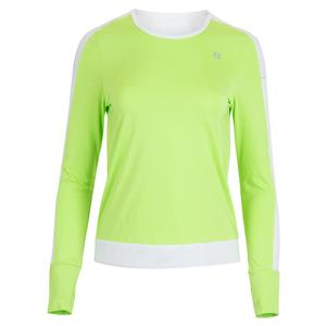 Women`s Upswing Long Sleeve Tennis Top Sharp Green