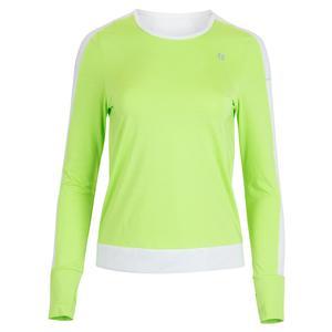 Women`s Upswing Long Sleeve Tennis Top Sharp Green