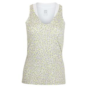 Women`s Love Tennis Tank Leopard Print
