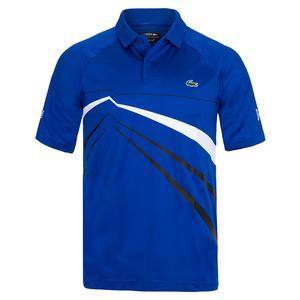 Men`s Novak Djokovic Ultra Dry Graphic Tennis Polo Paquebot and Blanc